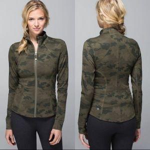 🌟Lululemon Forme Jacket-Savasana Green Cam…
